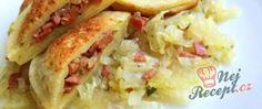 Recept Plněné bramborové taštičky Sauerkraut, Tacos, Food And Drink, Potatoes, Mexican, Chicken, Baking, Vegetables, Ethnic Recipes