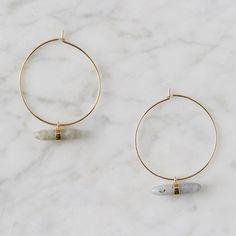 DaisyLime Gold Plated Hoop Earrings Bohemain Beaded Earrings Non Allergic UK