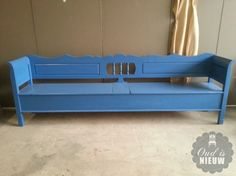 lange klepbank blauw