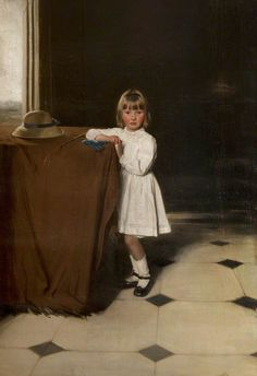 Sir William Nicholson. Portrait of Anne Stirling Maxwell, c. 1910-1911.