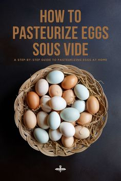 A step-by-step guide to how to pasteurize eggs sous vide at home. It's safe and easy! #sousvide #howtos Homemade Aioli, Homemade Mayonnaise, Cooking Tips, Cooking Recipes, Sweets Recipes, Food Tips, Easy Recipes, Healthy Recipes, Going Vegetarian