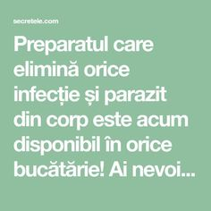 Preparatul care elimină orice infecție și parazit din corp este acum disponibil în orice bucătărie! Ai nevoie doar de 6 ingrediente simple..... - Secretele.com Body Hacks, Keep Fit, Good To Know, Health Fitness, Healthy, Tips, Smoothie, Technology, Sport