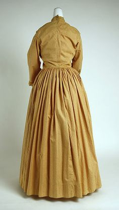 1840-1845 Morning dress, probably American; cotton (back view)