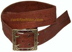 Cork Belt (model RC-GL0104003021) - Eco-friendly - made of real cork. From www.corkfashion.com
