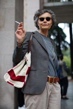 On the Street….Renata, Milan - The Sartorialist. She's be even more fabulous if she got rid of that cigarette!
