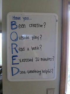BORED sign