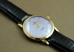 Vintage HMT Sona Hand Wind 17J India Mechanical Watch Lilac Dial GoldPlate Case #HMT #Casual