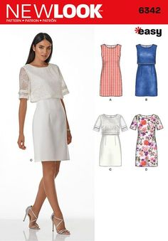 0f7f86af Misses' Dress with or without Overbodice. Easy Sew DressNew Look ...