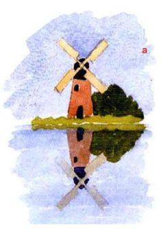 This watercolor painting tutorial teaches you three different ways to paint reflections in water featuring a windmill painting by artist Andy Walker. Watercolor Postcard, Kids Watercolor, Watercolor Cards, Watercolour Painting, Watercolor Pictures, Painting Canvas, Watercolor Paintings For Beginners, Watercolour Tutorials, Watercolor Techniques