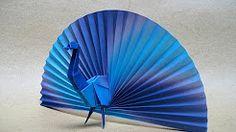 origami peacock easy - YouTube