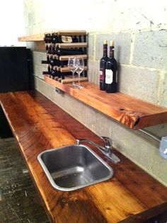 Office Kitchen Reclaimed wood kitchen by GreenFurnitureDesign, $2600.00