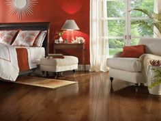 Plymouth Brown Hickory Hardwood Floors by Armstrong