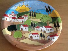 vila na toscana tecnica corda seca more corda seca ideas for ceramica ...