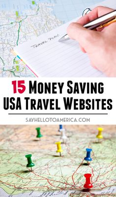 A collection of travel related websites and apps that will help people save money, find deals, and make planning your United States adventure a little easier. Click to save money or pin for later!