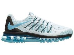 Nike Air Max 2015 Womens 698903-104 White Clear Water Blue Running Shoes Size 8