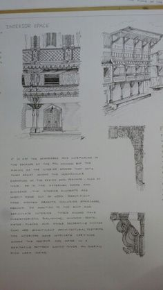 Rendered sketches of the Pol houses in Ahmedabad