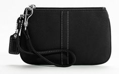 Coach Soho Pebbled Soft Leather Small Wristlet Clutch Purse 42389 Black Cute and gorgeous wristlet in pebbled leather that can be carried by itself or attached to a bigger bag. Perfect to carry all your cash, coins, cards, and more. Great for both day and night. Click Pic for More Info