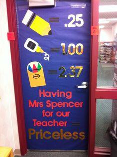 Such a cute Teacher Appreciation Door!
