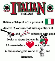 Italian and proud of it!