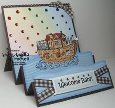 Noah's Ark Stairstep Card for ODBD Challenge by angelladcrockett - Cards and Paper Crafts at Splitcoaststampers