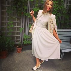 Xenia, you look amazing in #vilshenko dress and cape from fw 15-16 collection #vilshenkomuse @xenia_sobchak  /Ксения Собчак в платье и кейпе из зимней коллекции