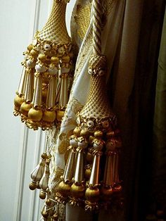Alzapaños elegante. Para las cortinas del dormitorio principal