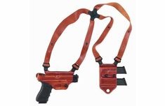 The shoulder holster isn't just for cinematic good and bad guys. It has a role in real life as these eight upper-body rigs prove. Springfield Emp, Springfield Pistols, Gun Holster, Holsters, Leather Company, Saddle Leather, Kydex, Guns And Ammo, Concealed Carry