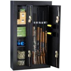 Homak 8 Gun Double Door Steel Security Cabinet Black HOMHS30136028