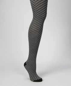 Take a look at this Black Optic Chevron Tights - Women by MeMoi on #zulily today!
