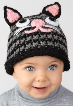 Ravelry: Loom Knit Kitten Hat pattern by Simplicity Pattern Company hat for beginners round loom Loom Knit Kitten Hat pattern by Simplicity Pattern Company Round Loom Knitting, Loom Knitting Projects, Loom Knitting Patterns, Baby Knitting, Hat Patterns, Knitting Looms, Knitting Hats, Knitting Tutorials, Knitting Machine