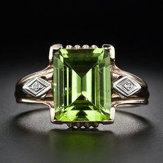 Birthstone....     Vintage Peridot and Diamond Ring