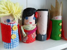 teawagontales: Meet the Family - make your family out of toilet paper rolls.