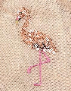 Flamingo Sequin Dress | Pink | Monsoon