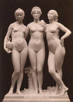 Paul Richer: Tres In Una, marble sculpture