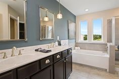 The Quentin F Owner's Suite Bath, Drees Homes, Cincinnati and Northern Kentucky