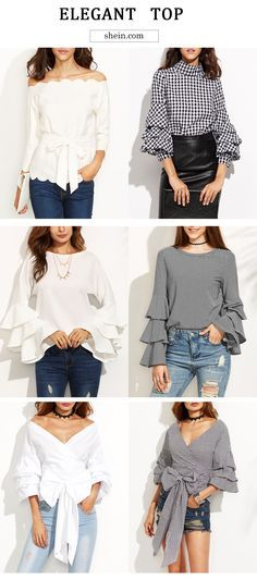 TopsYou need this! Take several feminine & elegant tops for this fall style! Fall Outfits, Casual Outfits, Cute Outfits, Fashion Outfits, Womens Fashion, Fashion Trends, Only Shirt, Blouse Styles, Passion For Fashion
