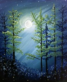 Paint Night Ideas Easy Fresh Paint Nite Drink Paint Party We Host Painting events Wine And Canvas, Forest Painting, Lake Painting, Arte Floral, Paint Party, Learn To Paint, Pictures To Paint, Acrylic Art, Tree Art