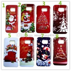 Christmas phone cases for iphone7 iphone 7 6 6s plus galaxy S7 note5 s6 hard PC UV painting Protective cover case hard defender case