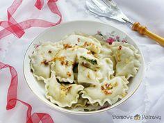 Polish Recipes, New Recipes, Polish Food, Ravioli, Pierogi, Mashed Potatoes, Cauliflower, Feta, Food And Drink