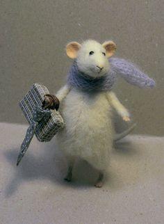 Stuffed Animals by Natasha Fadeeva - travelling mouse
