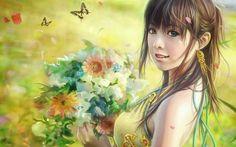 Pin Fantasy Cg Beautiful Girl Wallpaper By I Chen Lin Taiwan on . Fantasy Girl, Chica Fantasy, 3d Fantasy, Fantasy Kunst, Fantasy Women, Painting Wallpaper, Girl Wallpaper, Wallpaper Backgrounds, Desktop Wallpapers