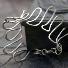Artist Silver Cuff Bracelet, by thebeadgirl via Etsy