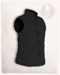 """The Leather Bracers """"manticore"""" fit perfectly for all costumes with a nordic background. Finely crafted punchings show elaborate Celtic kno… Leather Bracers, Leather Pouch, Archery Gloves, Celtic Knots, Chain Mail, Sleeveless Tunic, Metal Buckles, Belts For Women, Larp"""