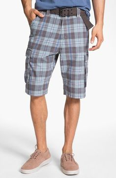 W.R.K 'Wainscott' Plaid Cargo Shorts available at #Nordstrom
