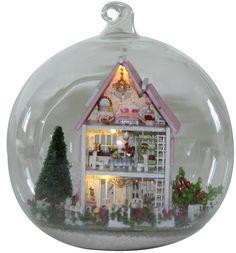 Miniature DIY Do It Yourself Handmade Dollhouse Doll House Castle Princess Palace Mini Glass Ball Kit
