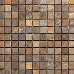 Slate Mosaic Tile 1x1 mounted on a 12x12 sheet, which allows for an easy installation. Each individual tile measures 1x1 and 8mm tick. This can be used as accent tiles on Bathrooms Walls, Kitchen Back