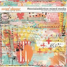 #socialaddiction Mixed Media by Studio Basic and Just Jaimee