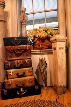 old suitcases for storage