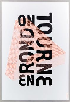 on tourne en rond=we turn around in circles=>on tourne poster by les graphiquants