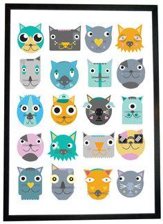 Meow Print - Kev Munday Original Art & Prints